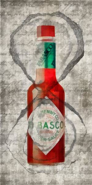 Wall Art - Painting - Tabasco Hot Sauce And Oysters by Edward Fielding