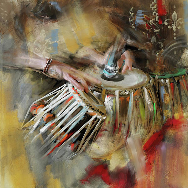 Music City Painting - Tabla 189 I by Mawra Tahreem