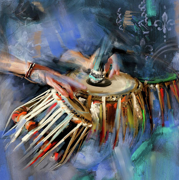 Bangladesh Painting - Tabla 189 II by Mawra Tahreem