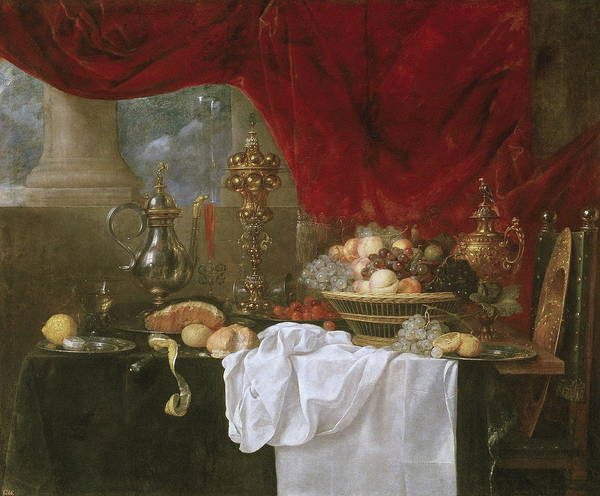 Food Groups Painting - Table by Espinosa Juan De