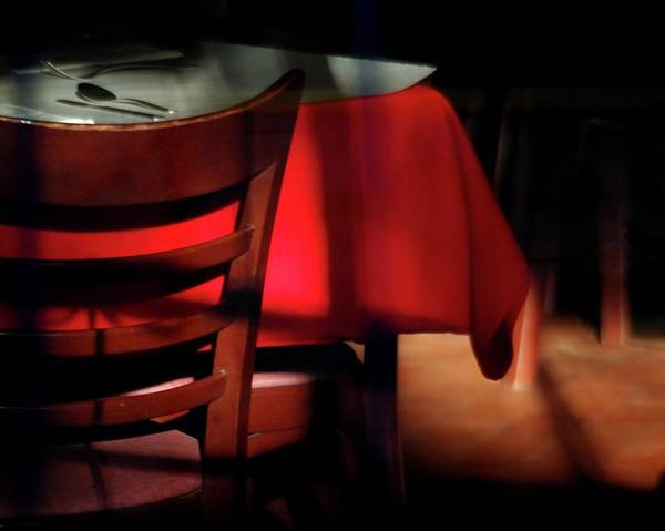Photograph - Table For One by Jerry Sodorff