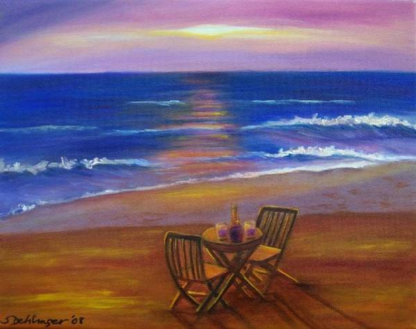 Painting - Table For Two At Sunset Sold by Susan Dehlinger
