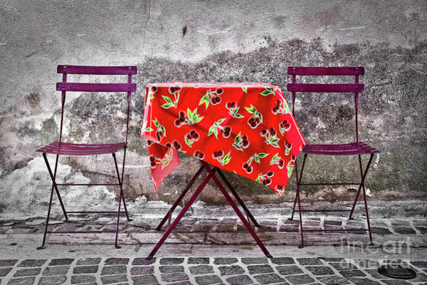 Wall Art - Photograph - Table For Two by Delphimages Photo Creations