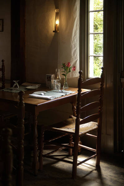 Wayside Inn Photograph - Table For Two by Lee Fortier