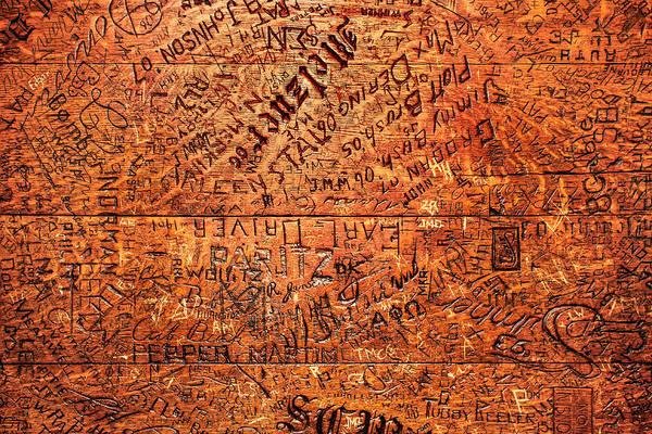 Photograph - Table Graffiti by Todd Klassy