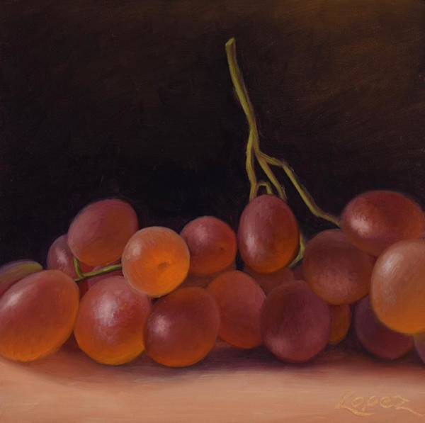 Wall Art - Painting - Table Grapes by Gema Lopez