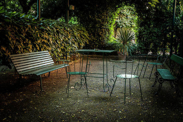 Metal Furniture Photograph - Table In The Park by Andrew Soundarajan