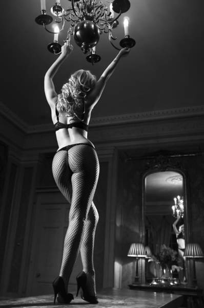 Burlesque Dancer Photograph - Table Performer by Damien Lovegrove