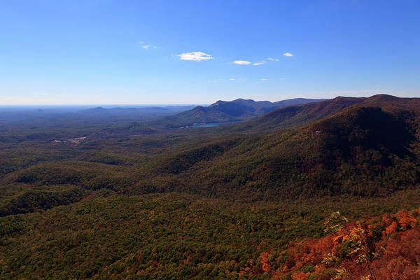 Photograph - Table Rock Mountain From Caesars Head State Park In Upstate South Carolina by Jill Lang