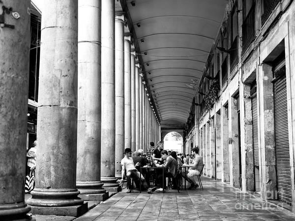 Photograph - Table Seating At La Boqueria by John Rizzuto