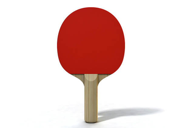 Tabletennis Digital Art - Table Tennis Paddle by Allan Swart