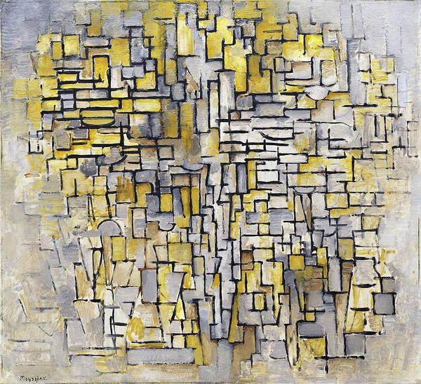 De Stijl Painting - Tableau 2 Composition Vii by Piet Mondrian