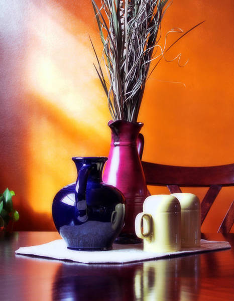 Blue Vase Photograph - Tabletop by Peter Chilelli