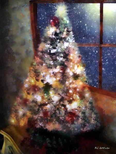 Painting - Tabletop Tannenbaum by RC DeWinter