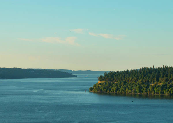 Photograph - Tacoma Narrows And Commencement Bay II by E Faithe Lester
