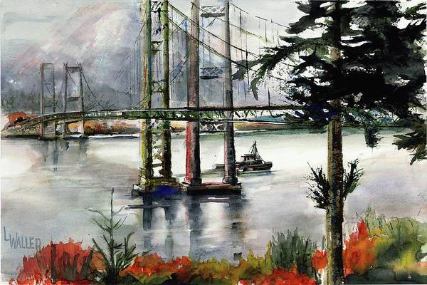 Tacoma Painting - Tacoma Narrows Slack Tide by Lola Waller