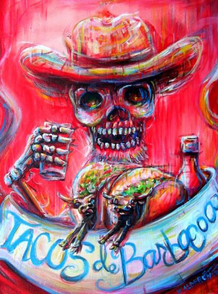Wall Art - Painting - Tacos De Barbacoa by Heather Calderon