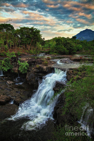Photograph - Tad Lo Waterfall, Bolaven Plateau, Champasak Province, Laos by Sam Antonio Photography