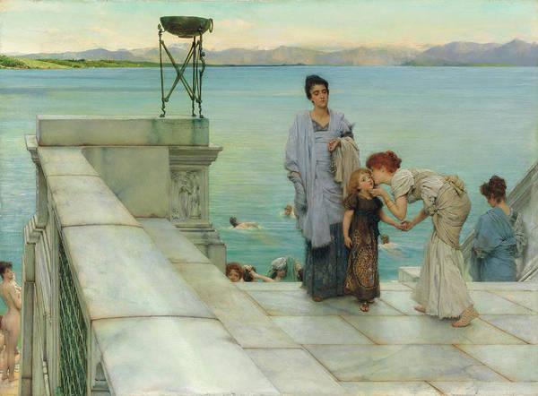 Wall Art - Painting - A Kiss by Sir Lawrence Alma-Tadema