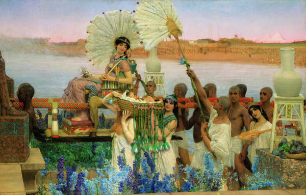 Wall Art - Painting - The Finding Of Moses by Sir Lawrence Alma-Tadema