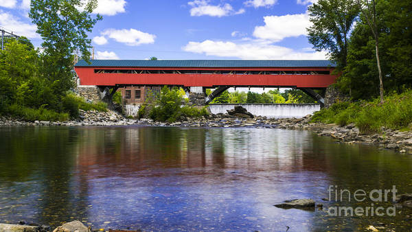 Photograph - Taftsville Covered Bridge. by New England Photography