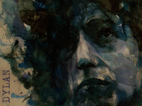 Wall Art - Painting - Tagged Up In Blue- Bob Dylan  by Paul Lovering