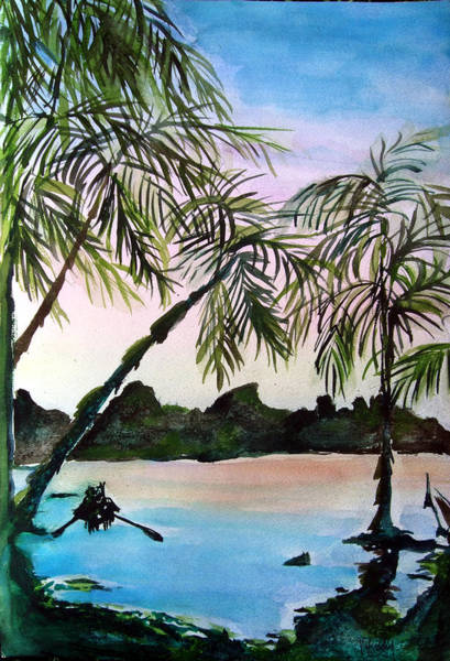 Wall Art - Painting - Tahiti by Mindy Newman