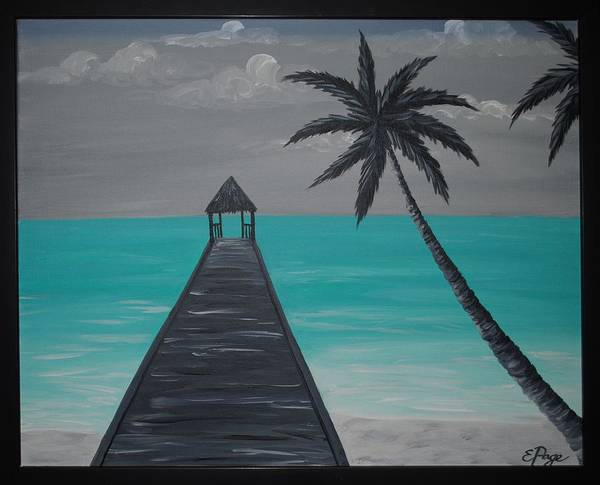 Painting - Tahitian Blue by Emily Page