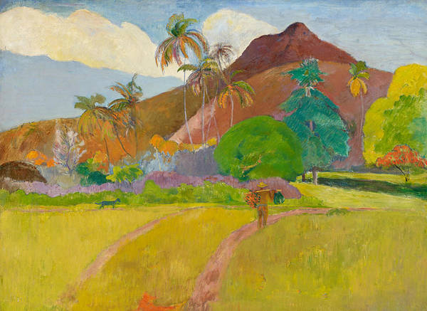 Gauguin Painting - Tahitian Landscape, 1891.  by Paul Gauguin