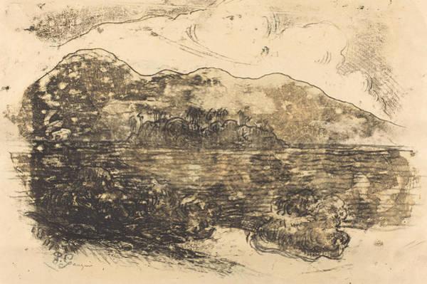 Wall Art - Drawing - Tahitian Shore - Recto by Paul Gauguin