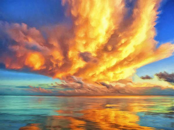 Fatu Hiva Wall Art - Painting - Tahitian Sunset by Dominic Piperata