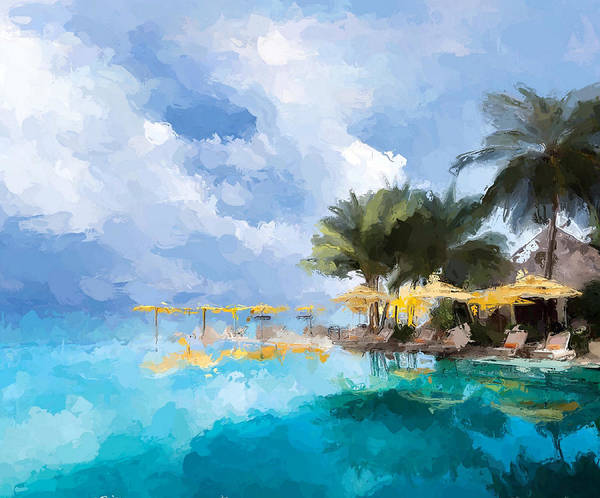 Wall Art - Mixed Media - Tahittian Paradise by Anthony Fishburne