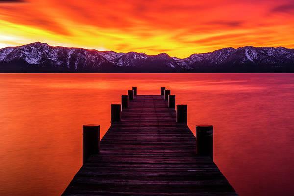 Photograph - Tahoe Ablaze By Brad Scott by Brad Scott