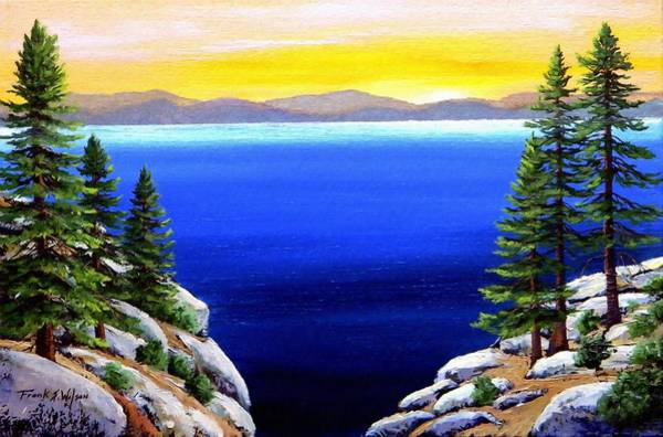 Painting - Tahoe Morning by Frank Wilson