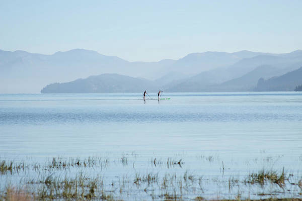 Photograph - Tahoe Paddle Boarders by Wes Jimerson
