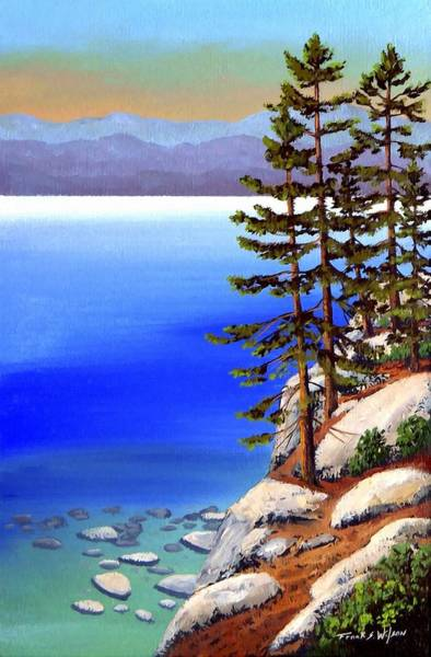 Painting - Tahoe Shore Pines by Frank Wilson