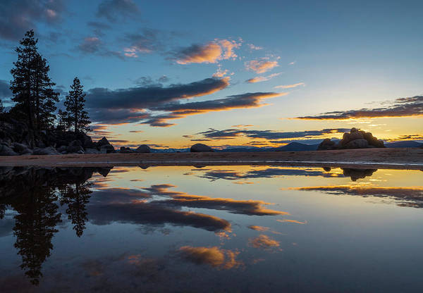 Photograph - Tahoe Spring Sunset by Martin Gollery