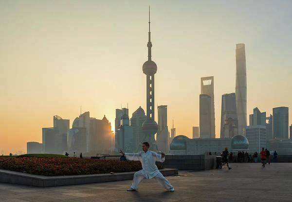Photograph - Tai Chi On The Bund by Matt Shiffler
