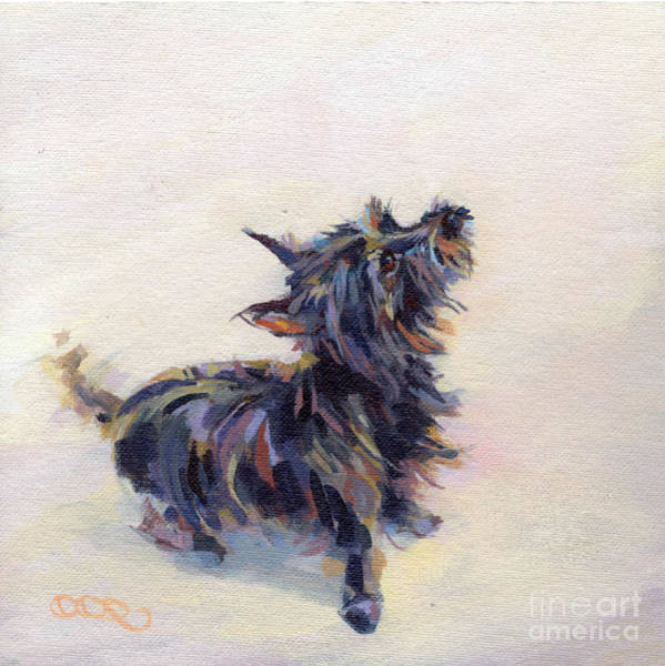 Wall Art - Painting - Tail Wagging Fury by Kimberly Santini