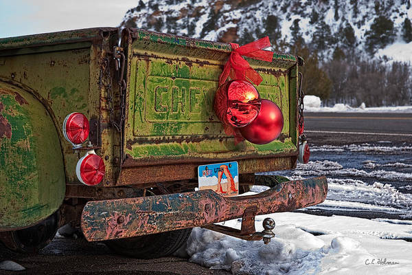 Photograph - Tailgate Christmas by Christopher Holmes
