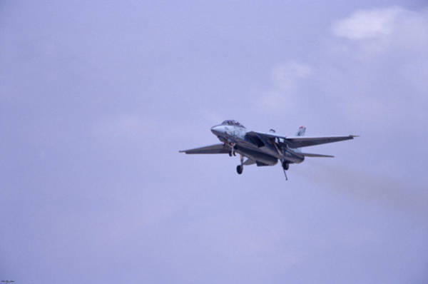 Top Gear Wall Art - Photograph - Tailhook Landing - F-14 Tomcat by Soli Deo Gloria Wilderness And Wildlife Photography
