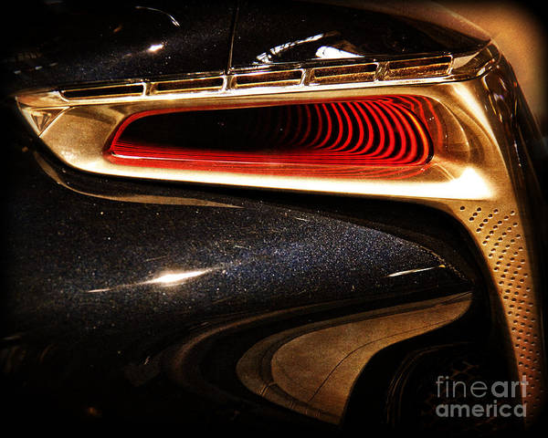 Carbon Fiber Photograph - Taillight Of The Future by Tom Gari Gallery-Three-Photography