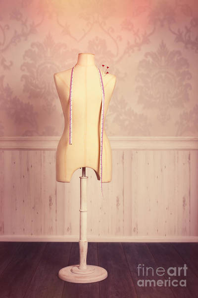 Dress Form Photograph - Tailors Dummy With Tape Measure by Amanda Elwell