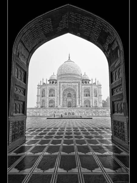 Taj Mahal - Bw Art Print