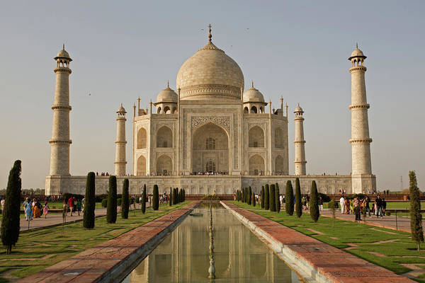 Photograph - Taj Mahal Mausoleum In Agra by Aivar Mikko
