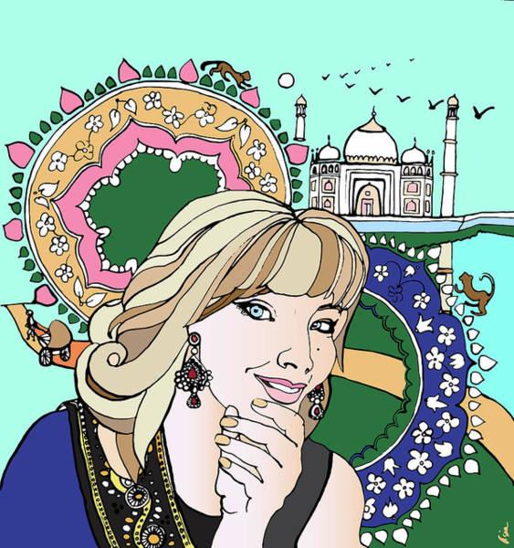 Blondie Digital Art - Taj Mahal Memories by Asia Lipovetckaia