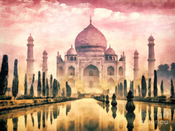 Wall Art - Painting - Taj Mahal by Mo T