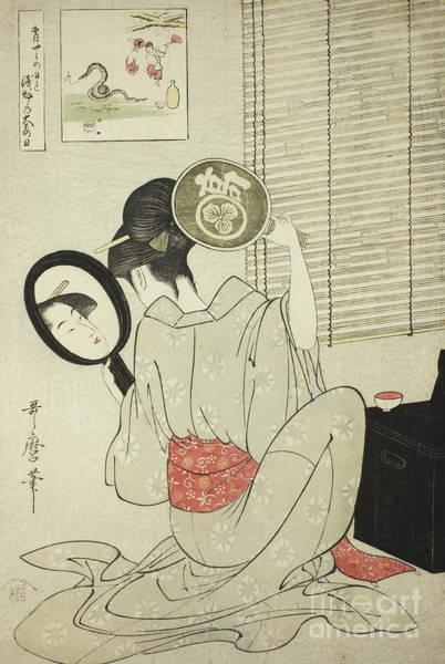 Beauty Drawing - Takashima Ohisa by Kitagawa Utamaro