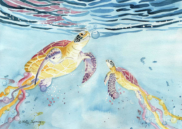 Sea Salt Painting - Take A Breath by Melly Terpening