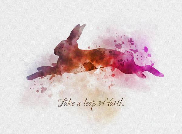 Faith Mixed Media - Take A Leap Of Faith by My Inspiration